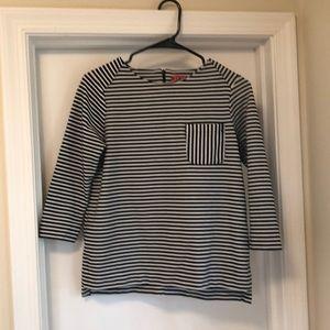Elle Thick Quarter Sleeve Stripped Shirt